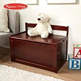 Melissa & Doug Wooden Toy Chest, Sturdy Wooden Chest (8.25 Cubic Feet of Storage, Easy to Assemble, Espresso)