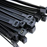 10,000 Heavy Duty 14'' 120 Pound Cable Zip Tie Down Strap Wire Nylon Wrap Black