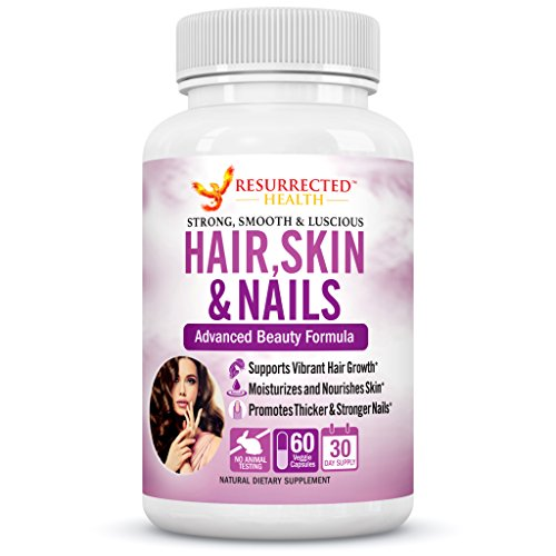 Hair Skin and Nail Vitamins for Women - Premium Hair Growth Formula - Promotes Glowing Skin, Longer Hair and Stronger Nails - High Potency Beauty Supplement with Vitamin E, Bamboo Extract & Biotin