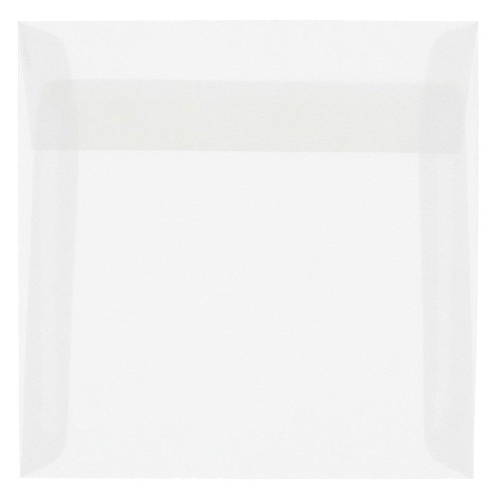 JAM PAPER 6 x 9 Booklet Translucent Vellum Envelopes - Clear - 50/Pack JAM Paper & Envelope