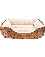 """Animals Favorite New Rectangle Pet Bed with Dog Paw Printing (22"""" x 18"""")"""