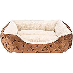 "Animals Favorite New Rectangle Pet Bed with Dog Paw Printing (22"" x 18"")"