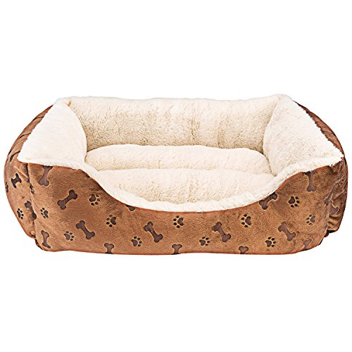 Animals Favorite New Rectangle Pet Bed with Dog Paw Printing (22