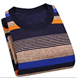 Sweater Men Thick Wool Sweaters Casual O-Neck Pullover Men Cotton Pull V2701 Xxxl