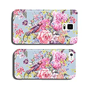 Seamless Floral Watercolor Background cell phone cover case Samsung S6