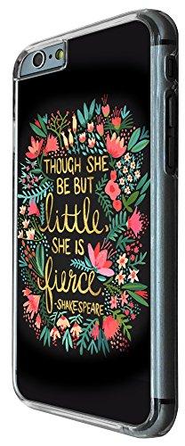 333 - Floral Shakespeare quote though but little she is fierce Design iphone 6 PLUS / iphone 6 PLUS S 5.5'' Coque Fashion Trend Case Coque Protection Cover plastique et métal