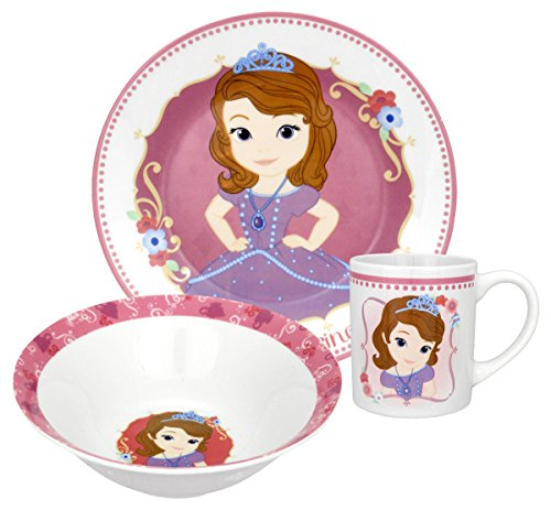 Disney Sofia The First Dinnerware Set, 3-Piece