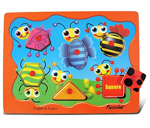 Puzzled Peg Puzzle, Insects - Puzzle Peg Puzzled