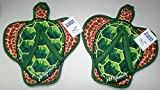 Hawaii Style Hard Floor Cleaning Slippers - FLOOR BUDDY - Sea Turtle - One (1) Pair