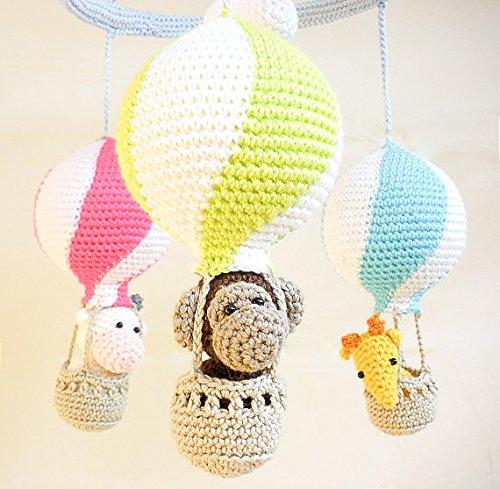 Heissluftballon Baby Mobil Neon Gefaerbt Nursery Haekeln Mobil