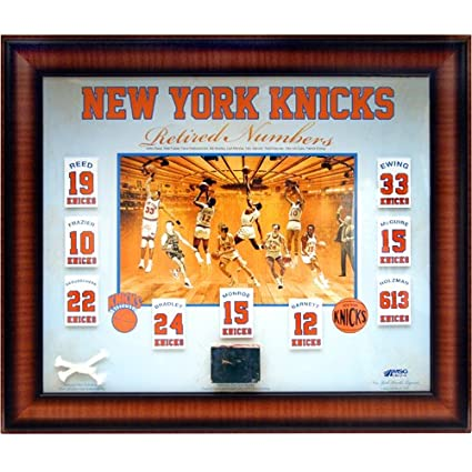 more photos bb444 53916 NY Knicks Floating Retired Numbers Banners Collage with Game ...