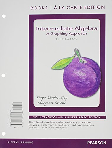 Intermediate Algebra: A Graphing Approach Books a la Carte Plus NEW MyLab Math with Pearson eText - Access Card Package (5th Edition)
