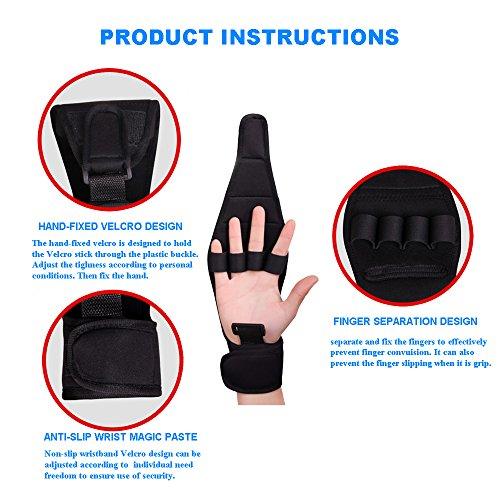 Enshey Rehabilitation Training Gloves Finger Splint Brace Ability Finger Gloves Brace Elderly Fist Stroke Hemiplegia Finger Anti-Spasticity Rehabilitation Auxiliary Training Gloves by Enshey (Image #1)'