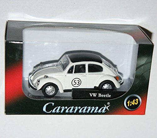 Cararama - Volkswagen VW BEETLE (White + #53 Herbie Decals) - Model Scale 1:43