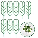 KisSealed Garden Trellis for Climbing Plants, Leaf Shape Potted Plant Support Vines Vegetables Vining Flowers Patio Climbing Trellises for Ivy Roses Cucumbers Clematis Pots Supports (8 Pack)