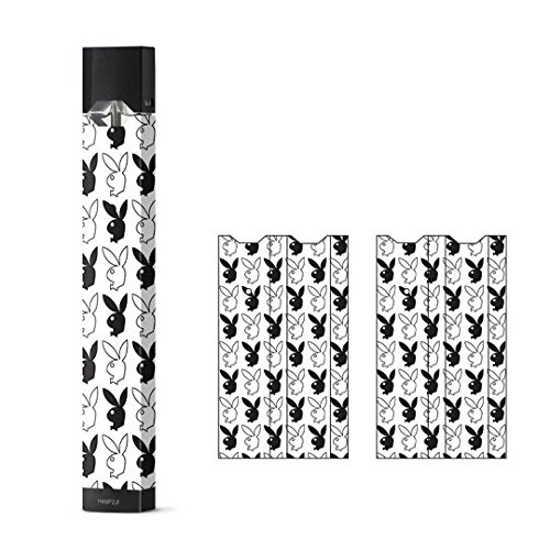 JaySkins Playboy Bunny Pattern Juul Skin Decal Sticker Wrap Protective Case for JUUL (New Playboy Bunny)
