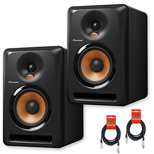 Pioneer DJ Bulit8 Active Reference 8-Inch Monitors - Black - Pair w/ 20ft XLR Cables - Bundle by Pioneer