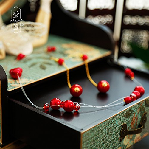 Yarn Rouge - usongs diamond pearl rouge simple aesthetic multilayer soft silk flower hair band bridal jewelry wedding yarn styling with head