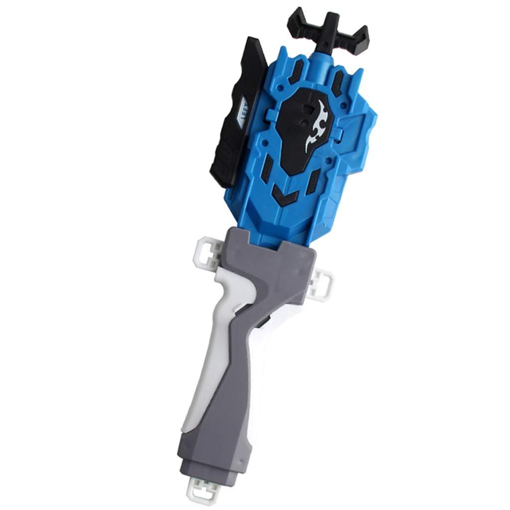 Blau FLAMEER Hochwertige Kampfkreisel String Launcher mit Griff Kit aus Kunststoff Tolles Geschenk f/ür Kinder