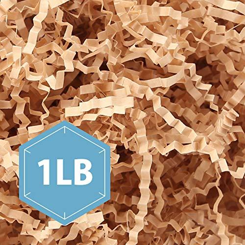 - PACKHOME 1 LB Crinkle Paper Shreds Crinkle Shredded Paper Filler, Premium Quality for Gifts Packing and Baskets Filling (Nature Kraft)