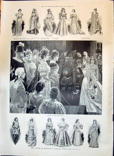 Duchess Of Devonshire Costume (1897 Duchess Devonshire Costume Ball Princess Raincliffe Hill Ade 042P211)