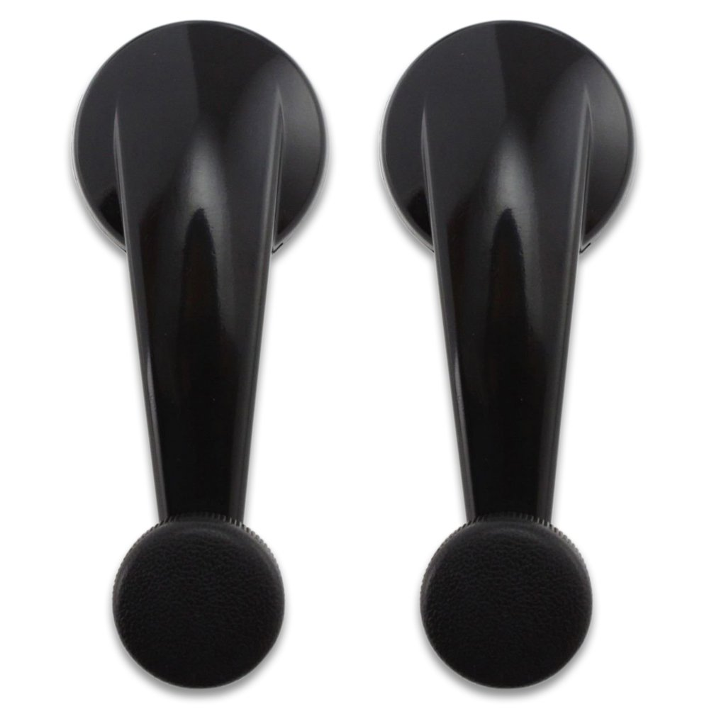 Black Color T1A 1994-1997 Chevy Blazer Pair of Interior METAL Window Crank Handle Replacements Fits Front Left and Right Sides GMC Jimmy Sonoma and Oldsmobile Bravada T1A 15647685 TruBuilt 1 Automotive Also Fits S10