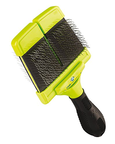 FURminator Furminator Slicker Brush With Soft Bristles For Dogs Large by Furminator