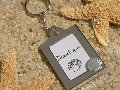 Memorable Moments Seashell Keychain Photo Frame Favor (60) by Cassiani
