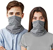 LUNGEAR 2 Pack Bandanas Neck Gaiter Balaclavas Face Scarf UV Dust Protect for Man and Woman Outdoor Sports Run