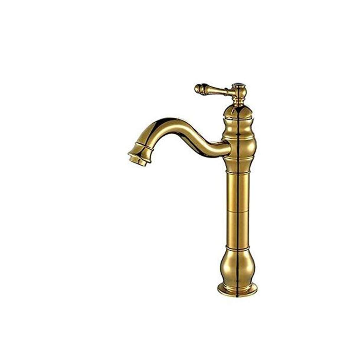 Faucets Basin Mixer Brass Single Handle Faucet Basin Mixer Tap Cold Hot Water for Bathroom