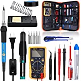 MeterMall Home Tools Soldering Iron Kit 60W Adjustable Temperature Welding Tool Multi Upgraded Welding Kit for Various Repair U.S. regulations