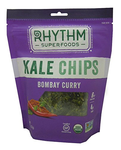 Rhythm Superfoods Kale Chips, Bombay Curry, 2 Ounce