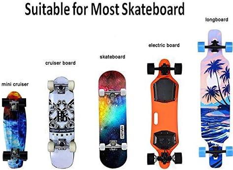 AUXPhome Support professionnel pour skateboard, longboard et skateboard électrique | Universellement compatible avec tout sac à dos à double bandoulière | Sangles réglables et crochet réglable