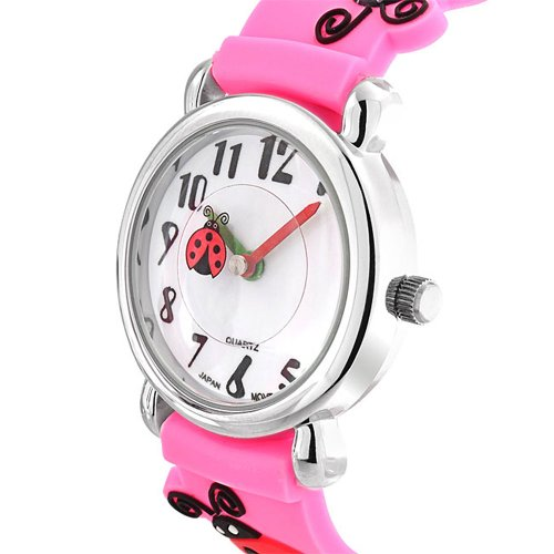 Bling Jewelry Girls Pink Ladybug Clover Kids Watch Stainless Steel Back by Bling Jewelry (Image #3)