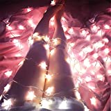 Star String Light JLTPH 2.5M 20 LED Battery Operated Fairy String Lights for Christmas Weddings Family Festival School Party Decoration, Pink