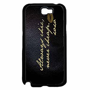 Zheng caseAlways Chic but Never Cheap TPU RUBBER SILICONE Phone Case Back Cover Samsung Galaxy Note II 2 N7100