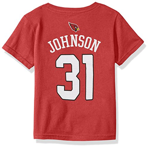 - NFL Toddler David Johnson Arizona Cardinals Boys -Mainliner Player Name Short sleeve Tee, Cardinal, 4T