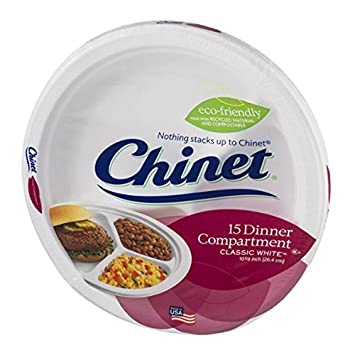 Chinet Dinner Compartment Plates Classic White - 15 CT  sc 1 st  Amazon.com & Amazon.com | Chinet Dinner Compartment Plates Classic White - 15 CT ...