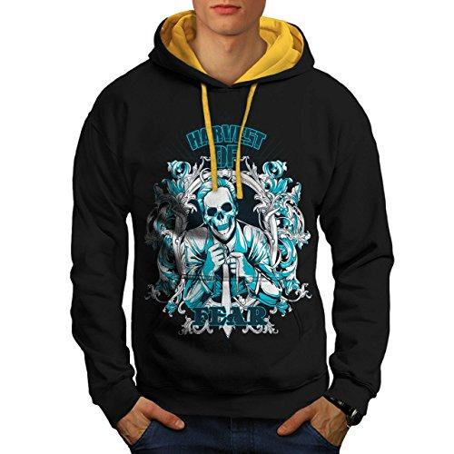 Harvest Of Fear Boss Skull Suit Men XL Contrast Hoodie | Wellcoda (Mob Boss Tie)