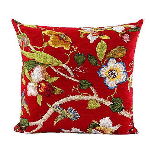 "Ikevan Fine Spring Sofa Bed Home Decor Pillow Case Cushion Cover(18"" x 18"") (Red)"