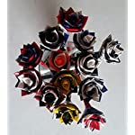 Half-Dozen-6-Denver-Broncos-NFL-Duct-Tape-Flowers-six