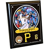 "MLB Pittsburgh Pirates Starling Marte Plaque with Game Used Dirt from PNC Park, 8"" x 10"", Navy"