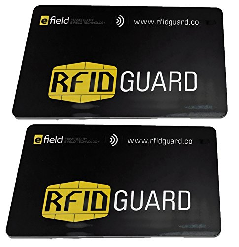 (RFIDGuard RFID Blocking Card Guard Blocker for Credit/Bank Cards, Passports and Wallets, 2-Pack (RFIDGD-2-PAK))