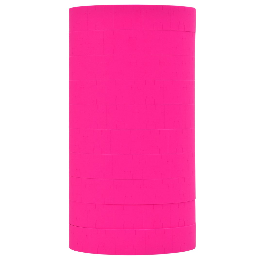 Fluorescent Pink Pricing Labels to fit Monarch 1115 Pricers. 10 Rolls with 1 Free Ink Roller.