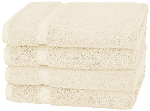Pinzon Organic Cotton Bath Towels (4 Pack), Ivory