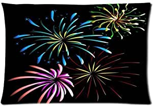 Fashionable Firework Queen Pillowcase Cotton Pillow Case Cover Standard 20x30 inch (one side)