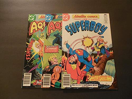 3 Iss Adventure Comics #451-453 Jun-Sep 1977 Bronze Age DC Comics Aquaman