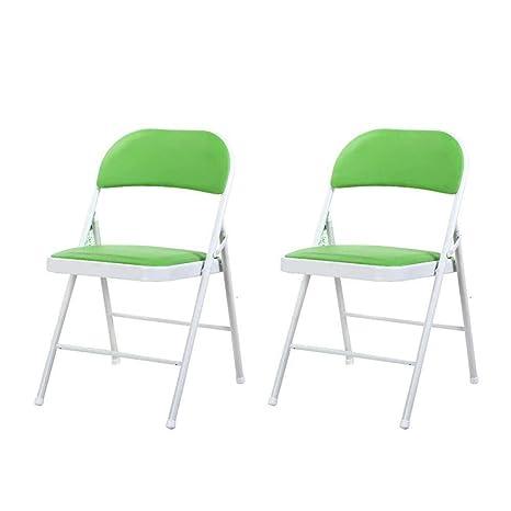 FENGFAN Juego de sillas Plegables de 2 Silla de computadora ...