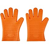 AmazonBasics Silicone BBQ Gloves, One Pair