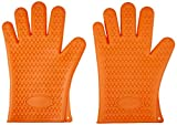 silicon bbq - AmazonBasics Silicone BBQ Gloves, One Pair
